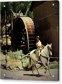 Acrylic Print featuring the painting Riding The Spanish Mare by Anastasia Savage Ealy