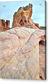Acrylic Print featuring the photograph Riding The Wave In Valley Of Fire by Ray Mathis