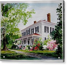 Acrylic Print featuring the painting Ried-thurman-wannamaker Home by Gloria Turner