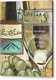 Riesling Wine Acrylic Print