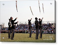 Rifle Toss By The Old Guard At The Twilight Tattoo  In Washington Dc Acrylic Print
