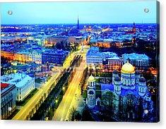 Acrylic Print featuring the photograph Riga by Fabrizio Troiani