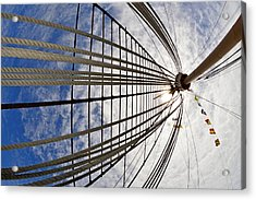 Rigging Of Queen Mary Acrylic Print