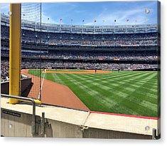 Yankee Stadium_right Field2 Acrylic Print by All Island Promos