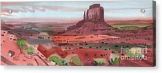 Right Mitten Panorama Acrylic Print by Donald Maier