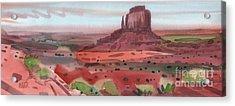 Right Mitten Panorama Acrylic Print