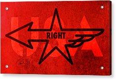 Right Wing Acrylic Print by Paul Gaj