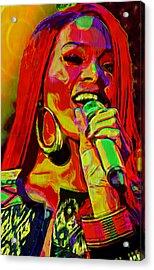 Rihanna 2 Acrylic Print by  Fli Art