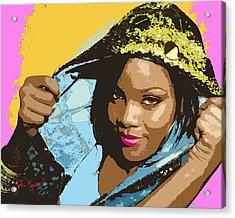 Rihanna Acrylic Print by John Keaton