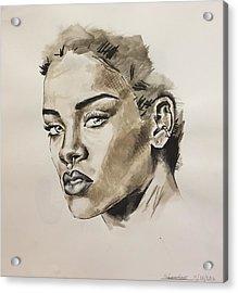 Rihanna  Acrylic Print by Megan Lawless