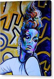 Rihanna Rude  Acrylic Print by Javier J Sanchez Primo Todd