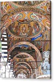 Rila Monastery In Bulgaria Acrylic Print by Iglika Milcheva-Godfrey