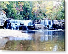Riley Moore Falls Oconee County Sc Acrylic Print by Lane Owen