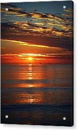 Rincon Sunset Acrylic Print by John A Royston