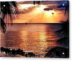 Rincon Sunset Acrylic Print by Michael  Cryer