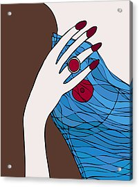 Ring Finger Acrylic Print by Frank Tschakert