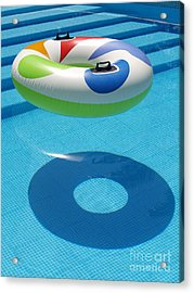 Ring In A Swimming Pool Acrylic Print by Michael Canning