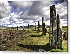 Ring Of Brodgar Acrylic Print by Fran Gallogly