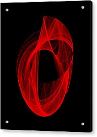 Acrylic Print featuring the digital art Ring Unraveling I by Robert Krawczyk