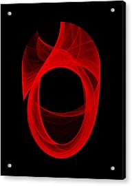 Acrylic Print featuring the digital art Ring Unraveling II by Robert Krawczyk