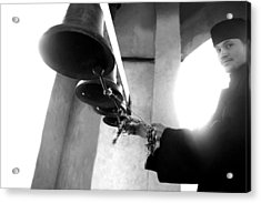 Ringing The Bells At The Monastery Acrylic Print by Emanuel Tanjala