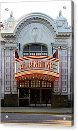 Ringling Acrylic Print by Tom Hefko