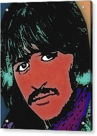 Ringo Starr-coloured Acrylic Print by Otis Porritt