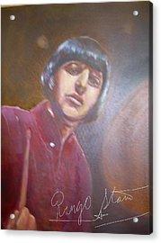 Ringo Starr Acrylic Print by Leland Castro