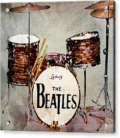 Ringo's Drums Acrylic Print by Bill Cannon