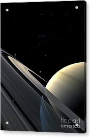 Rings Of Saturn Acrylic Print by Fahad Sulehria