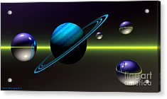 Acrylic Print featuring the digital art Rings Of Saturn by Sandra Bauser Digital Art