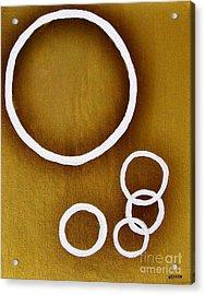 Rings On Gold Acrylic Print by Marsha Heiken