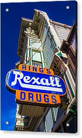 Rings Rexall Drugs Sign Acrylic Print