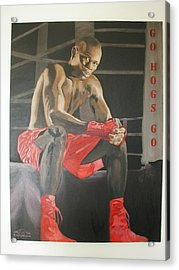 Ringside With Jermain Acrylic Print by Angelo Thomas