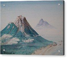 Rinjani Acrylic Print by David  Larcom