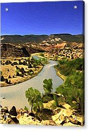 Rio Chama River Acrylic Print