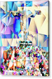 Acrylic Print featuring the photograph Rio Christ The Redeemer In Abstract Cubism 20170327 by Wingsdomain Art and Photography