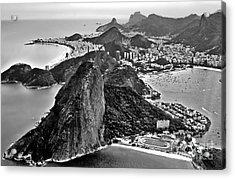 Rio De Janeiro - Sugar Loaf, Corcovado And Baia De Guanabara Acrylic Print