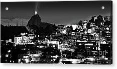 Rio De Janeiro - Christ The Redeemer On Corcovado, Mountains And Slums Acrylic Print