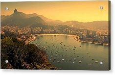 Rio De Janeiro Cityscape Acrylic Print