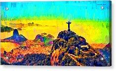 Rio De Janeiro Panoramic 2 - Pa Acrylic Print by Leonardo Digenio