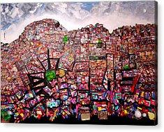 Rio Favelas Acrylic Print