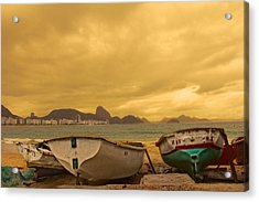 Acrylic Print featuring the photograph Rio Fishing Boats by Kim Wilson
