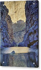 Rio Grand, Santa Elena Canyon Texas 2 Acrylic Print by Kathy Adams Clark