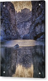 Rio Grand, Santa Elena Canyon Texas Acrylic Print by Kathy Adams Clark