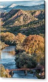 Acrylic Print featuring the photograph Rio Grande Embudo Vista by Britt Runyon