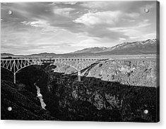 Acrylic Print featuring the photograph Rio Grande Gorge Birdge by Marilyn Hunt