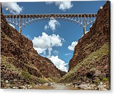 Acrylic Print featuring the photograph Rio Grande Gorge Bridge by Britt Runyon