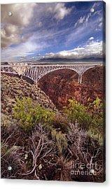 Acrylic Print featuring the photograph Rio Grande Gorge Bridge by Jill Battaglia