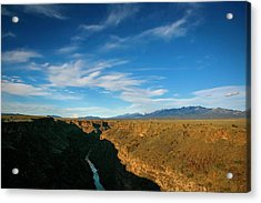 Acrylic Print featuring the photograph Rio Grande Gorge Nm by Marilyn Hunt